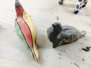 птички из глины